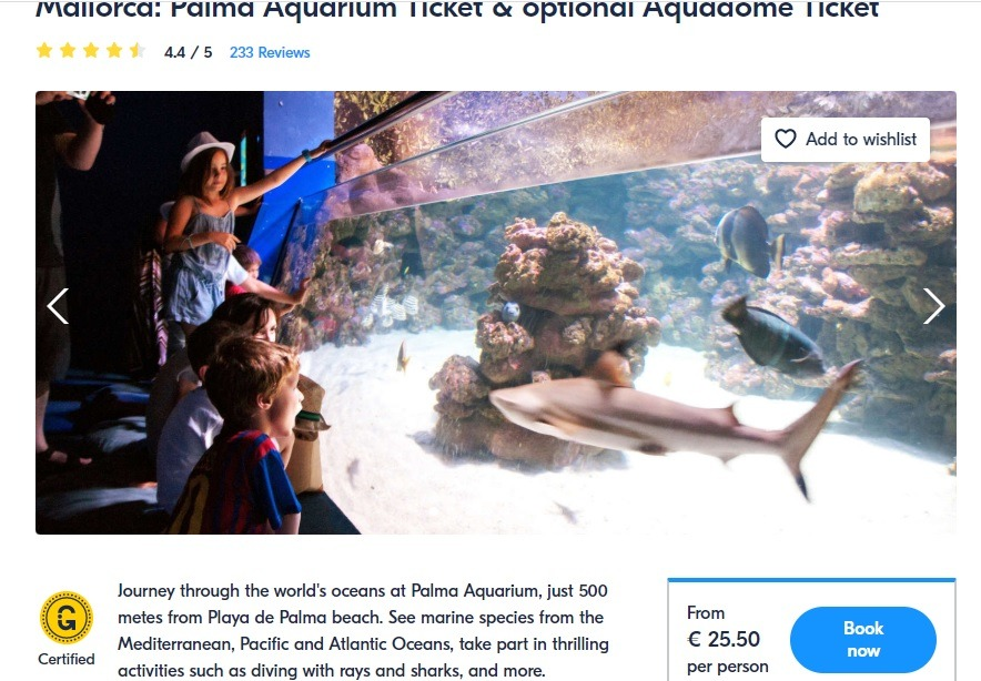 Palma Aquarium ticket GYG