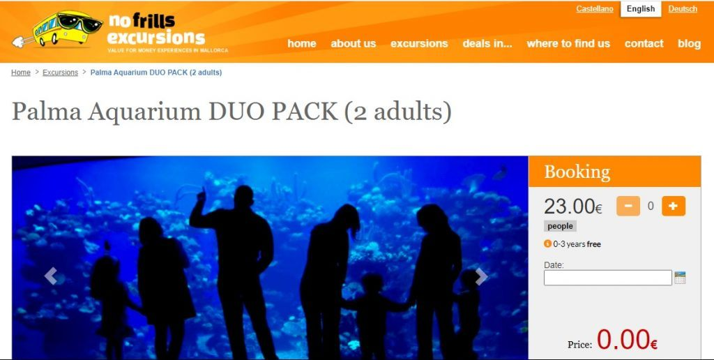 Ticket to palma aquarium special offer