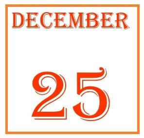 December 25 Calendar Card
