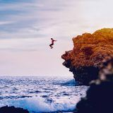 Cliff Jumping on the coast