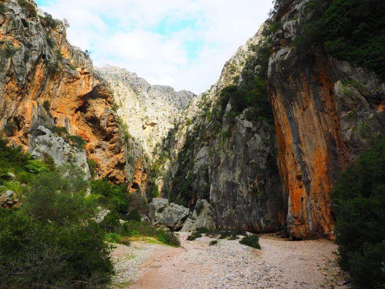 View through the Torrent de Pareis