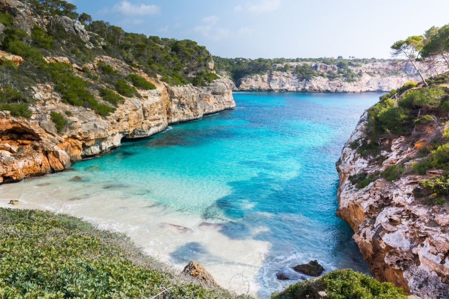 Calo des Moro Beach view in Mallorca