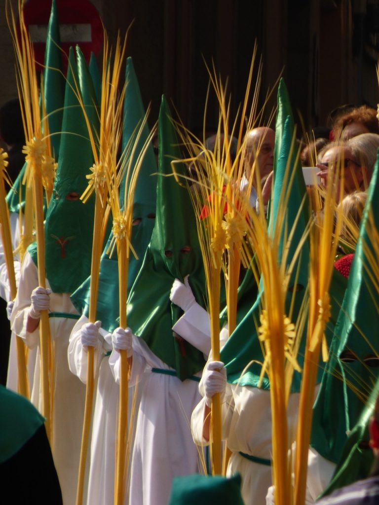 Palm Sunday during Easter in Mallorca