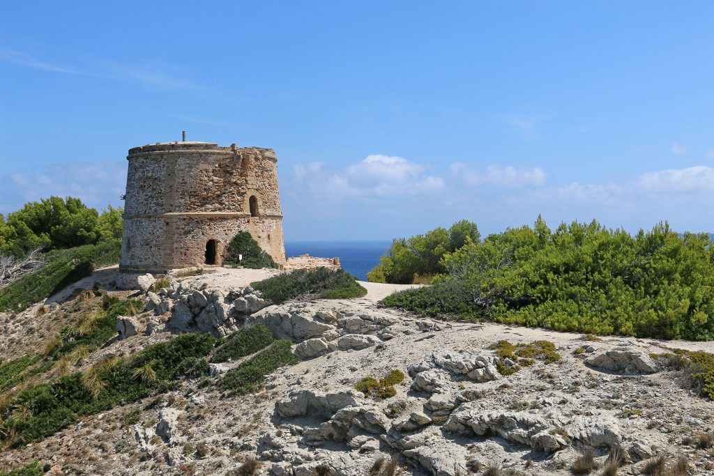 Tower near Cala Matzoc in Mallorca