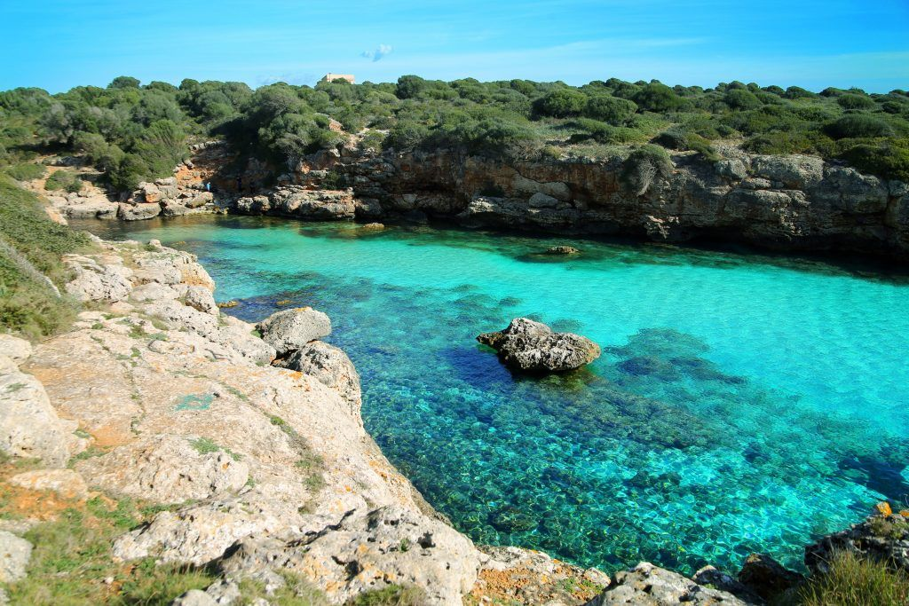 Hidden Cove in Mallorca named Cala Petita