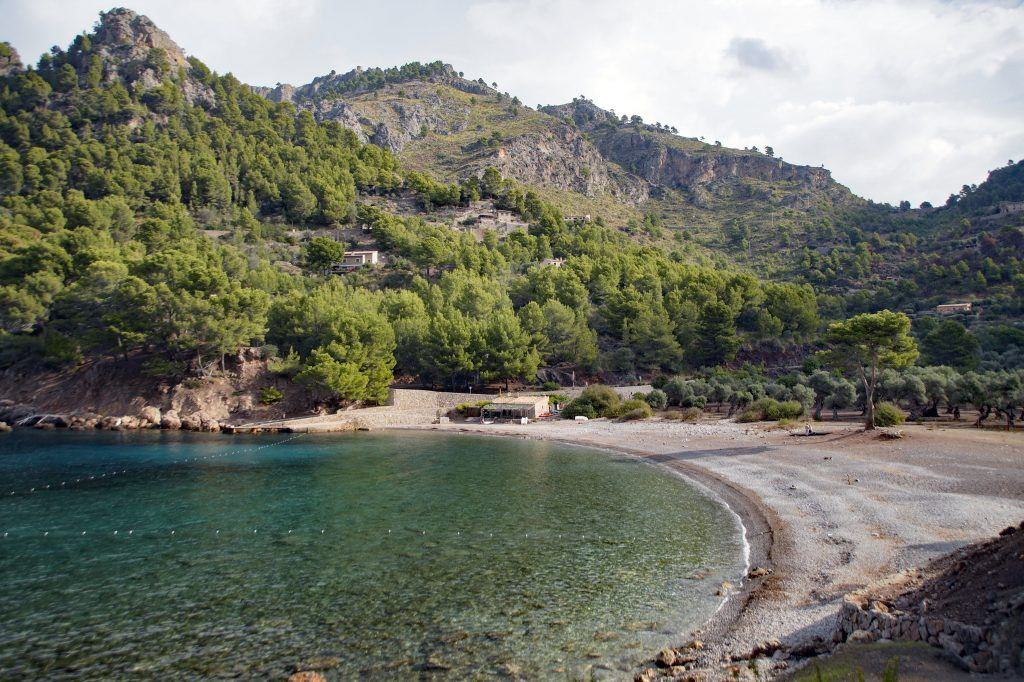 Cala Tuent in Tramuntana Mountains Area