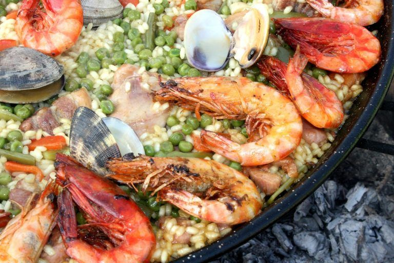 Typical Mallorcan food - Paella