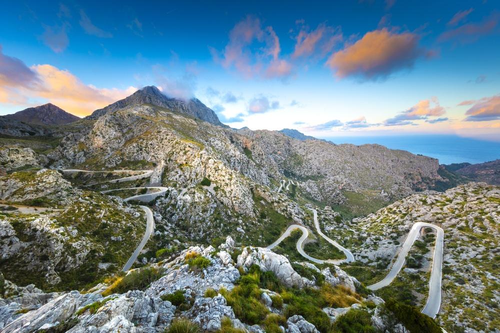 View of Sa Calobra road