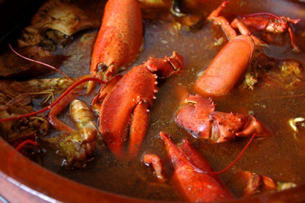 Caldereta de langosta typical dish from Menorca