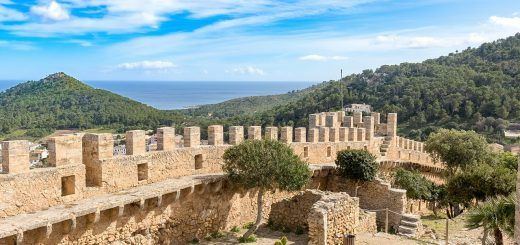 View from Capdepera Castle in Mallorca